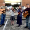 Silvey family play opening day of Hope Farmers' Market
