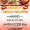 Community Thanksgiving planned